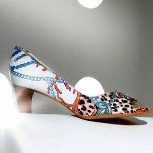 Cora Calma peep toe shoe