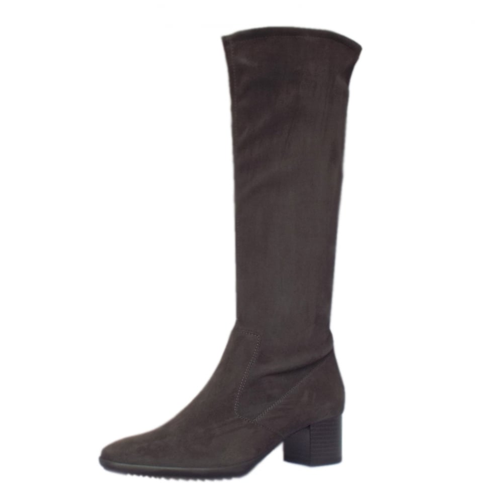 kaiser uk ailo carbon stretch suede pull on knee