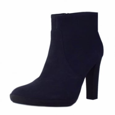 Anah Ladies Heeled Ankle Boot in Notte Moritz