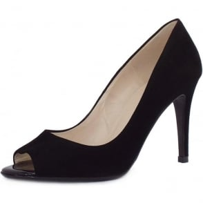 Anna Black Suede Stiletto Pumps