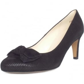 Baska Black Liz Suede Mid Heel Pumps