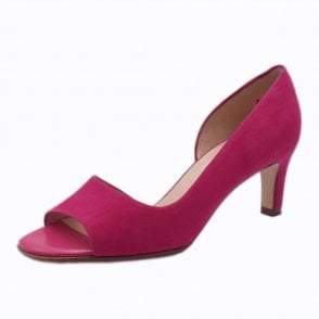 Beate Berry Suede Stylish Open Toe Pumps