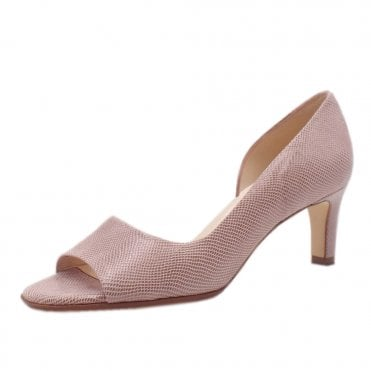 Beate Mauve Sarto Leather Stylish Open Toe Pumps