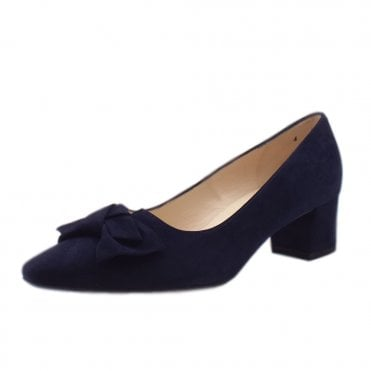 Blia Wide Fit Court Shoes in Notte Suede
