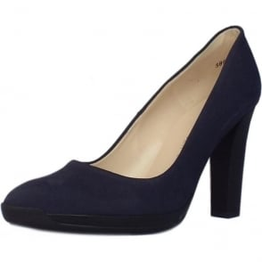 Charlien Trendy Rubber Heel Court Shoes in Notte Moritz