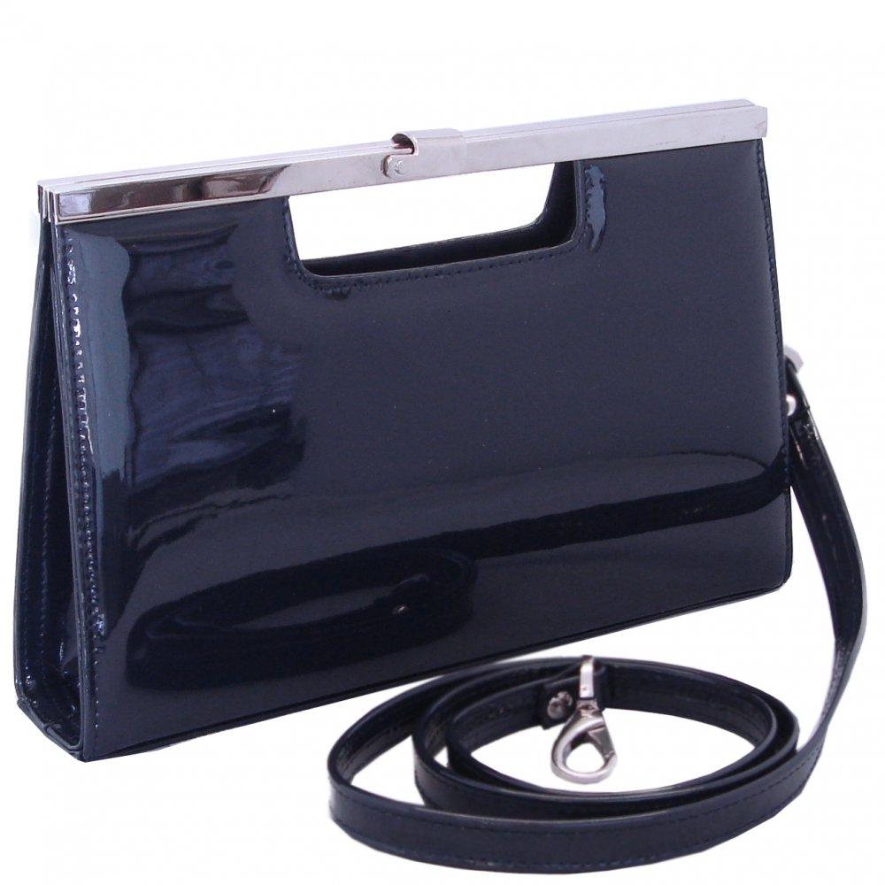 Peter Kaiser Wye   99613-021   Navy patent lutch bag