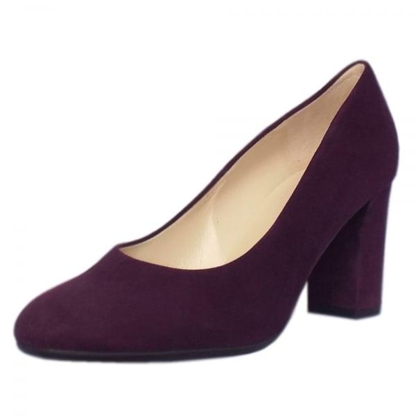 Plum Suede Court Shoes