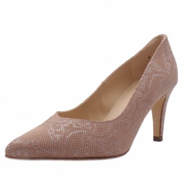 Elektra Rose Tiles Leather Mid Heel Dressy Pumps
