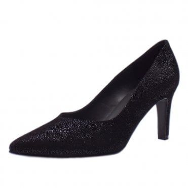 Elfi Court Shoes in Black Asterisk