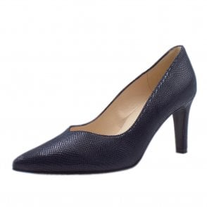 Elfi Classic Court Shoes in Notte Sarto