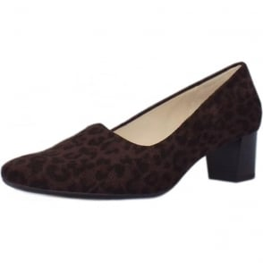 Geneve Nuba Leon Plus Fit Low Heel Pumps