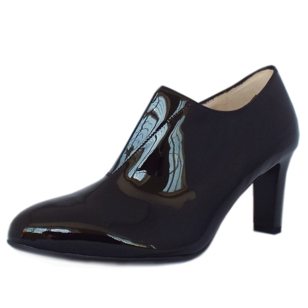 Blue leather gloves ladies uk - Hanara Black Patent Mid Heel High Top Pumps