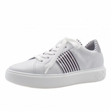 Ilena Leather Modern Sneakers in White Black
