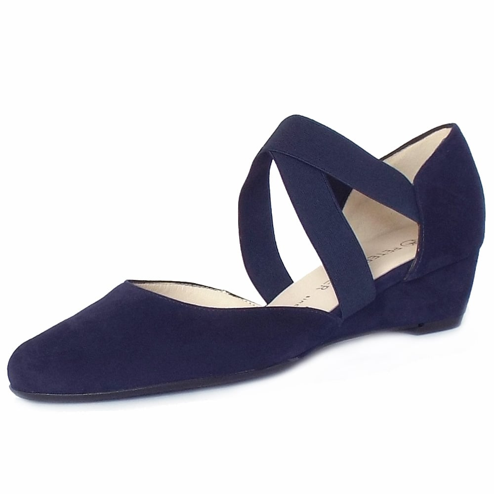 Navy Wedge Shoes Uk