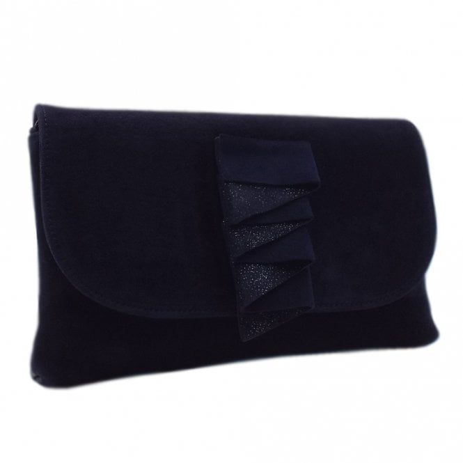 Karla Notte Suede Clutch Bag