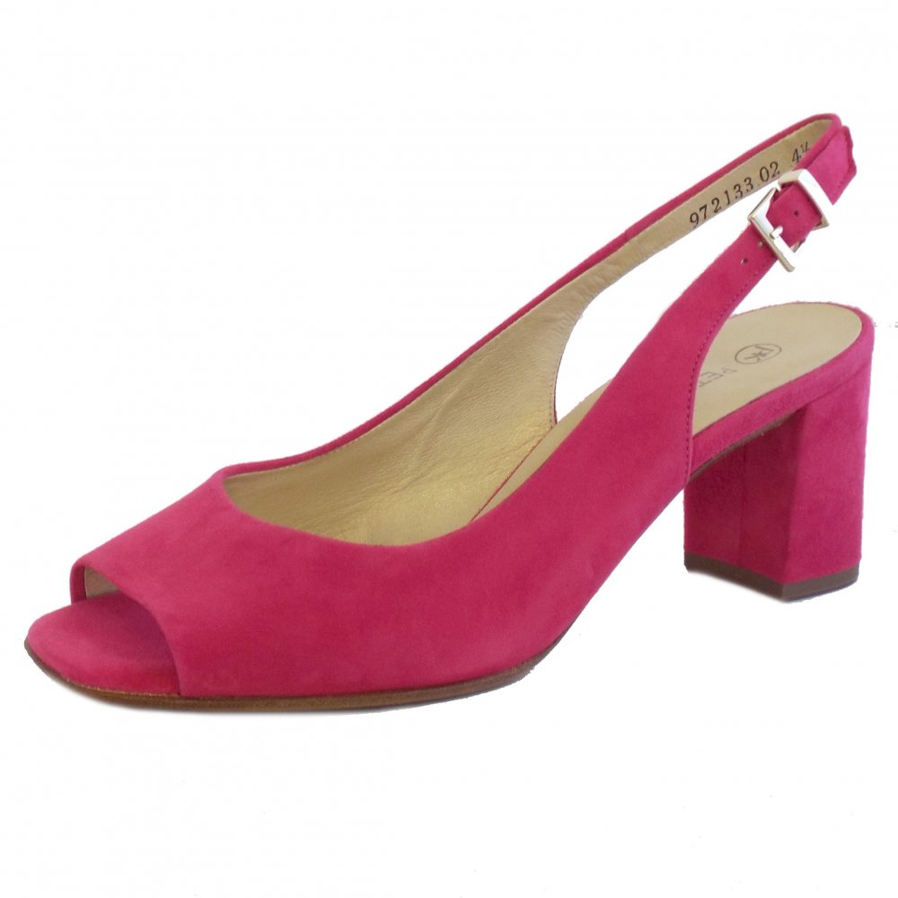 97b3d88033 Peter Kaiser Kasey | Pink Suede Ladies Comfortable Slingback Shoes