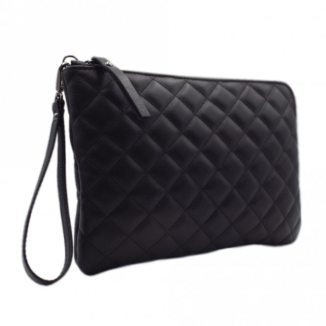 Kirsty Stylish Clutch Bag in Classic Black Glove