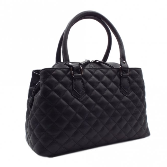 Kyna Black Glove Leather Versatile Classic Bag