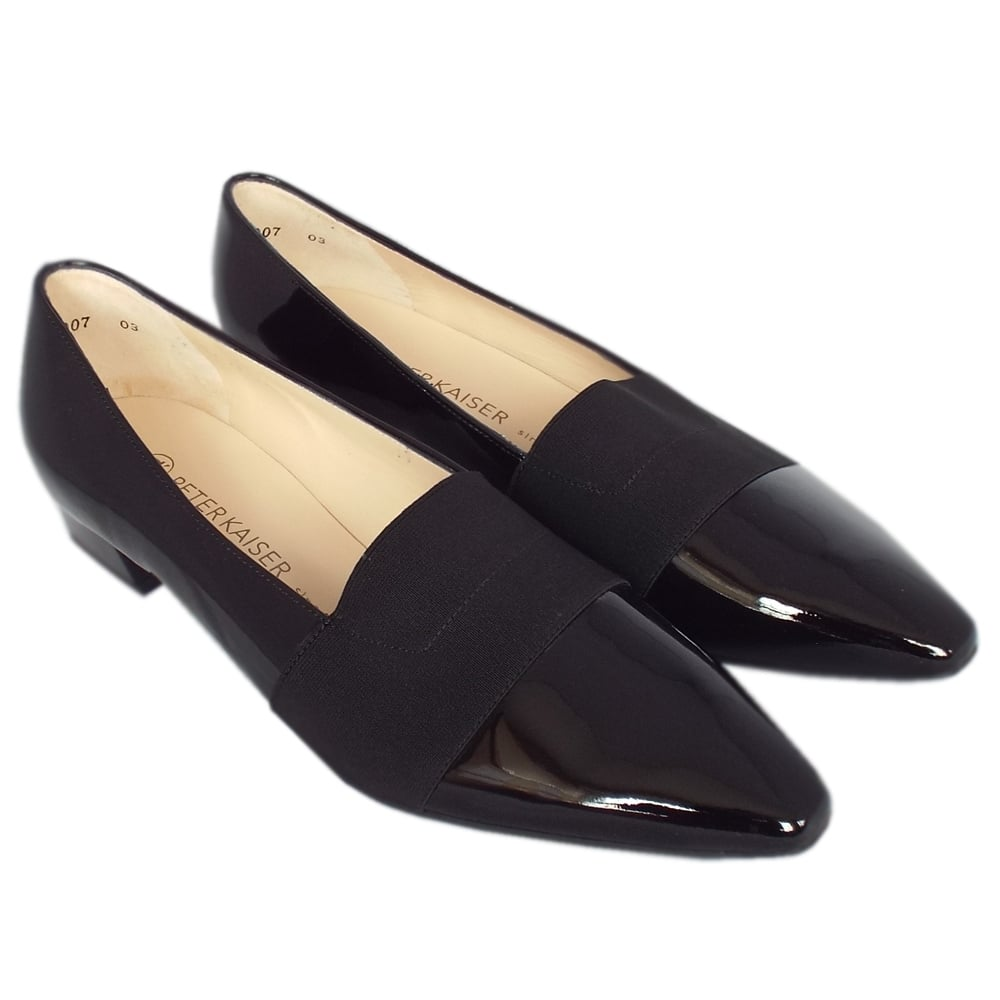 ... Lagos Pointed Toe Ballet Pumps in Black Patent ... 628234722d41