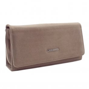 Lanelle Taupe Suede Stylish Clutch Bag
