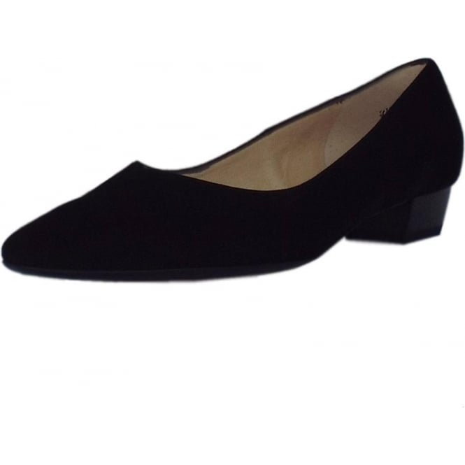 Limba Black Suede Pointy Toe Low Heel Pumps