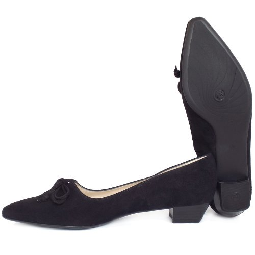 250d974c1 Peter Kaiser Lizzy | Black Suede Pointed Toe Shoes | Low Heel