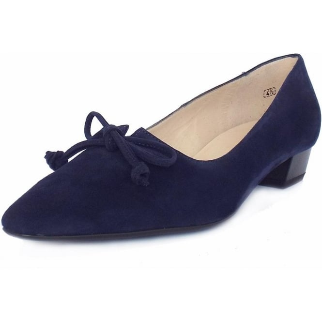 Lizzy Women's Pointed Toe Pumps in Navy Suede