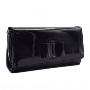 Londara Clutch Bag In Black Lack