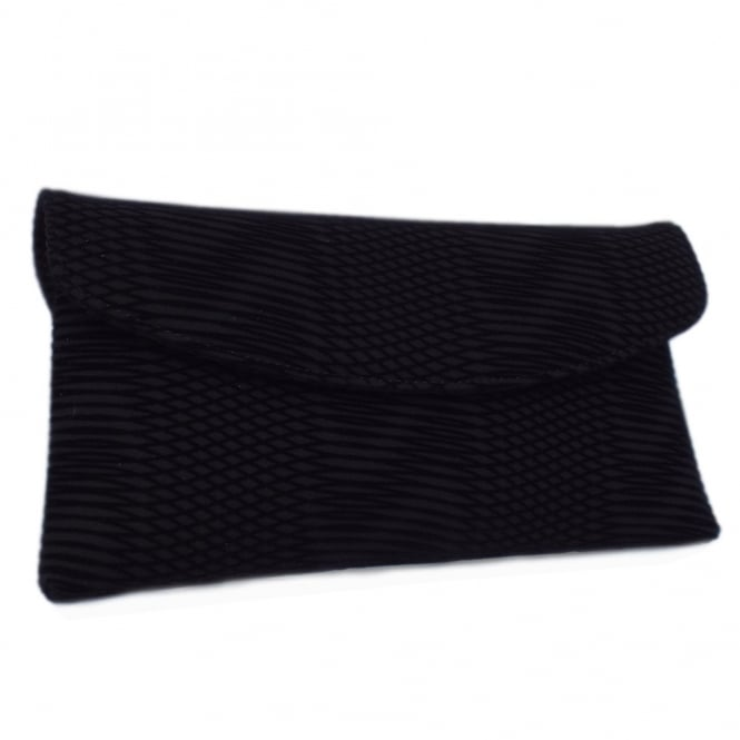 Mabel Stylish Clutch Bag in Black Nico