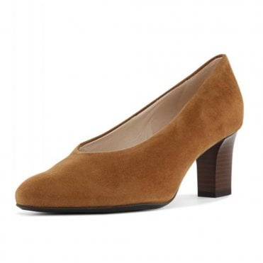 Mahirella Classic Mid Heel Court Shoes in Sable