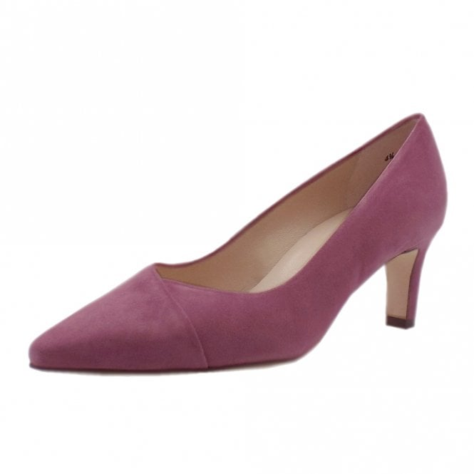 Maike Classic Court Shoes in Cassis Suede