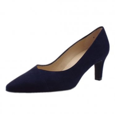Maike Classic Court Shoes in Notte Suede