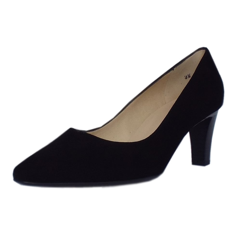 Peter Kaiser Uk Mani Black Suede Semi Pointed Flat Pumps