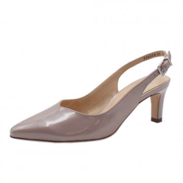 Medana-A Mauve Mura Evening Sandals With Mid Heel