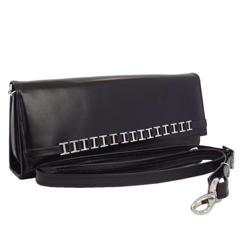 f94dac425ad Peter Kaiser UK | Mimi Black Chevro | Leather Shoulder Clutch Bag