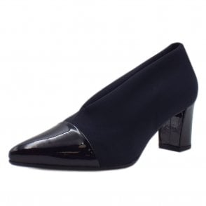 Noemita Notte Patent Pointed Toe Stretch Pumps