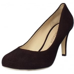 Pascale Court Shoe in Nuba Moon Suede