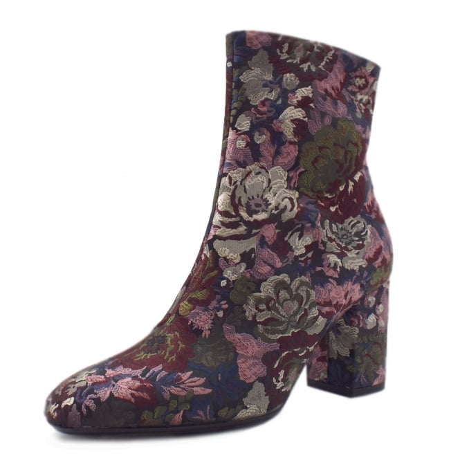 Adelyta Multi Flower Fabric Short Boots