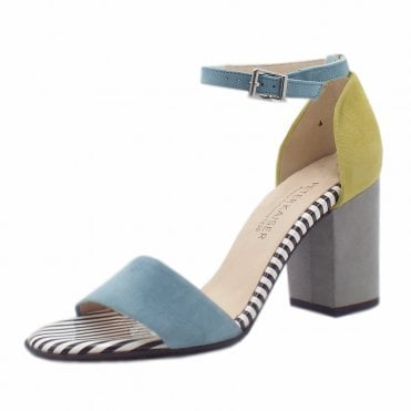 Adilia Ankle Strap Sandals in Blue Kombi