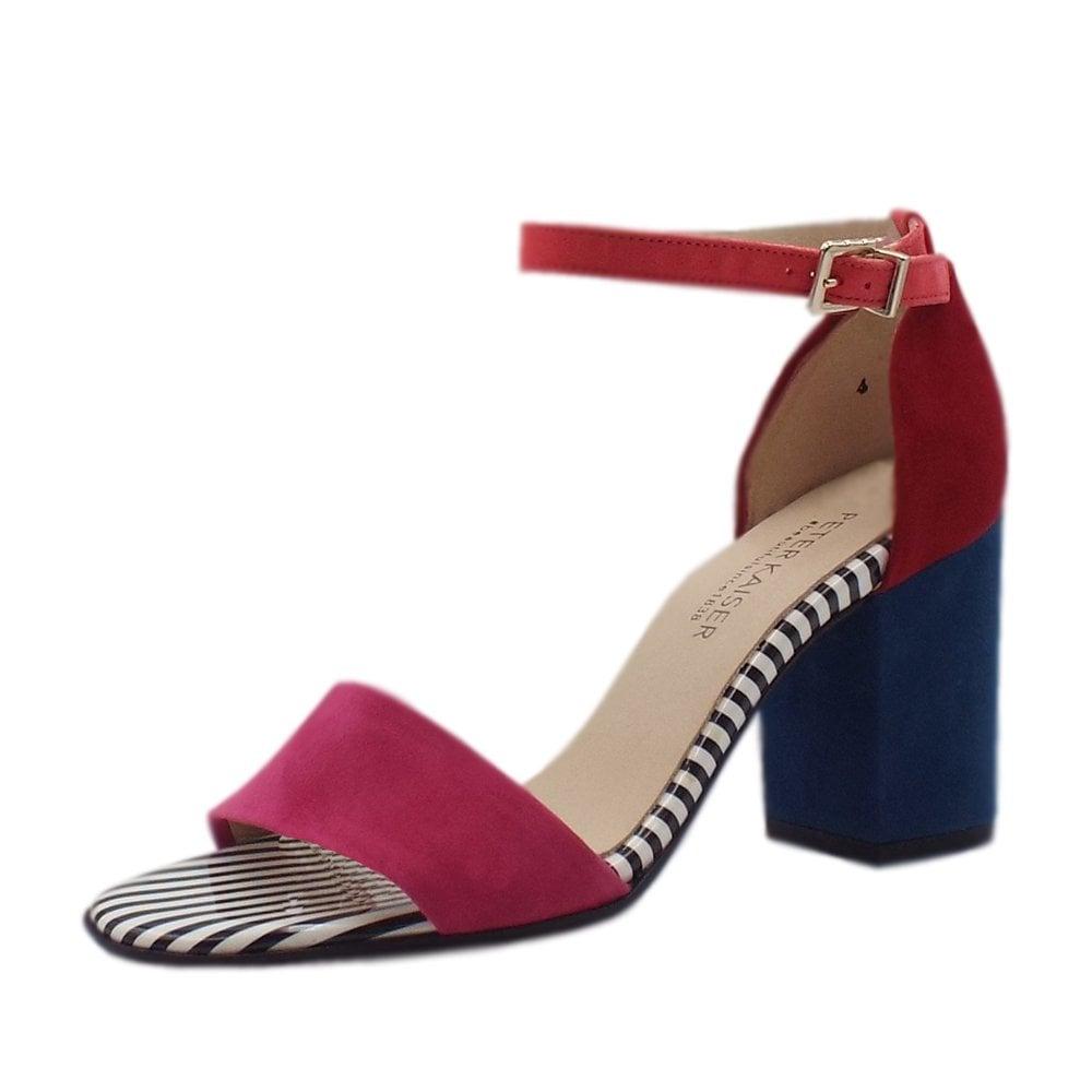 4e21e0e9ceb Adilia Ankle Strap Block Heel Sandals in Multi Colour ...