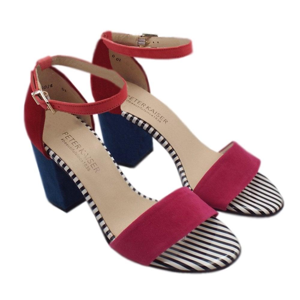 7ff2136b4 ... Adilia Ankle Strap Block Heel Sandals in Multi Colour ...