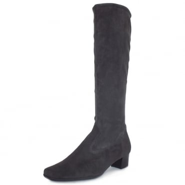 Aila Carbon Suede Stretch Pull On Boots