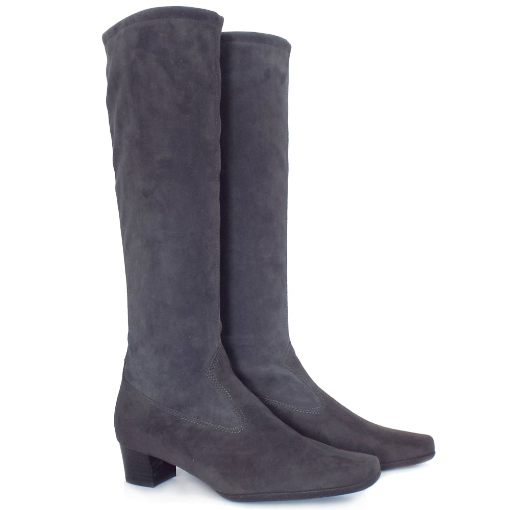 kaiser uk aila carbon stretch suede pull on knee