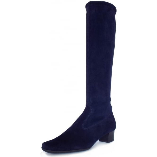 Aila Notte Stretch Suede Pull On Boots