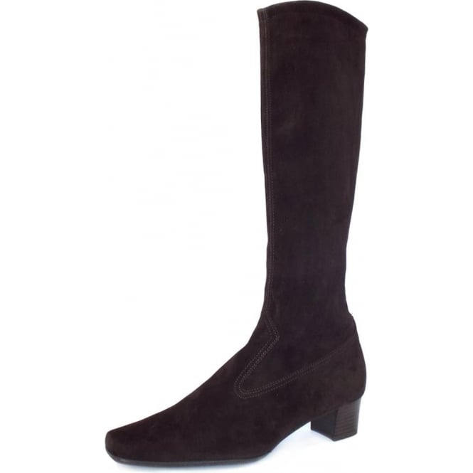 Aila Nuba Stretch Suede Pull On Boots