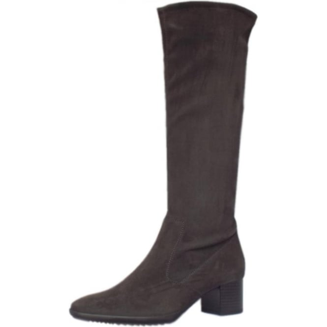 Ailo Carbon Stretch Suede Pull On Boots