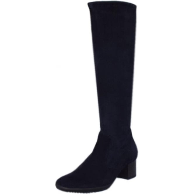 Ailo Notte Stretch Suede Pull On Boots