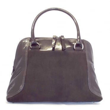 Amanda Nuba suede and Patent Leather handbag