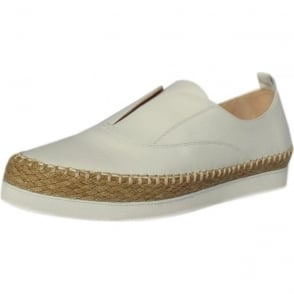 Anamarie White Leather Trendy Espadrilles