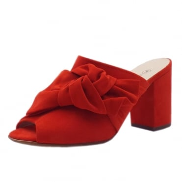 Anilia Coral Red Brasil Suede Sandals